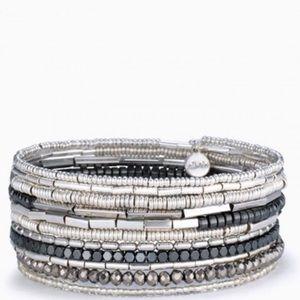 Stella & Dot Celine Wrap Bracelet - Silver